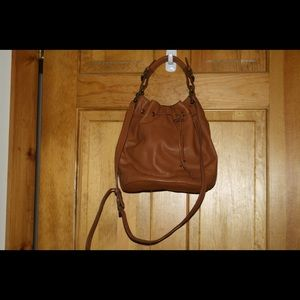 Very soft leather bucket bag